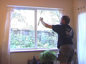washing interior windows